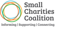 Screenshot of Small Charities Coalition Website and logo